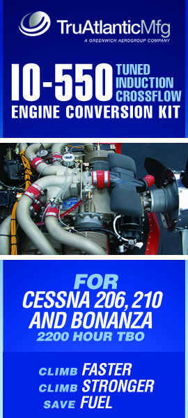 IO-550 conversions for Cessna 206 and 210 and Bonanza